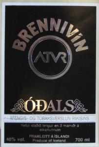Odals Brennivin label