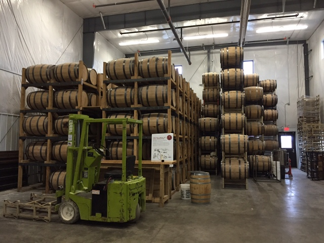 Barrel room at 45th Parallel